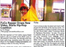 Curci in Colorado Music Buzz Magazine